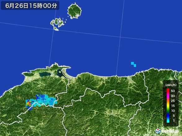 鳥取県の雨雲レーダー(2017年06月26日)