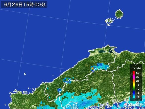 島根県の雨雲レーダー(2017年06月26日)