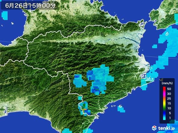 徳島県の雨雲レーダー(2017年06月26日)