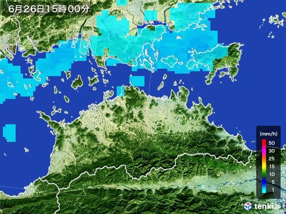 香川県の雨雲レーダー(2017年06月26日)