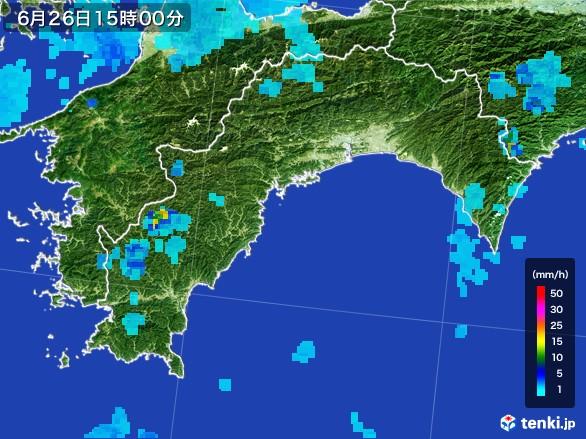 高知県の雨雲レーダー(2017年06月26日)