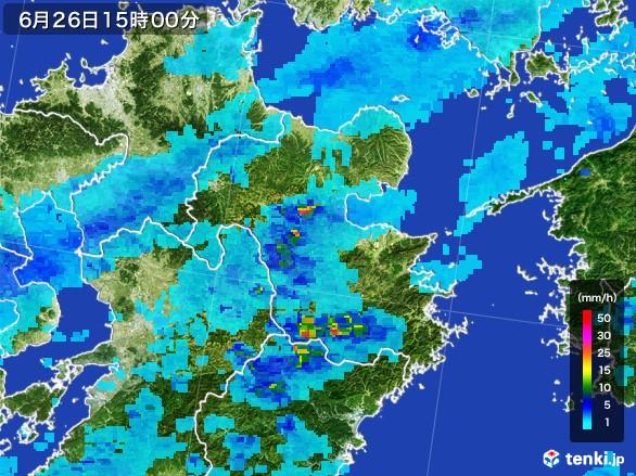 大分県の雨雲レーダー(2017年06月26日)