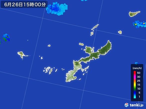 沖縄県の雨雲レーダー(2017年06月26日)