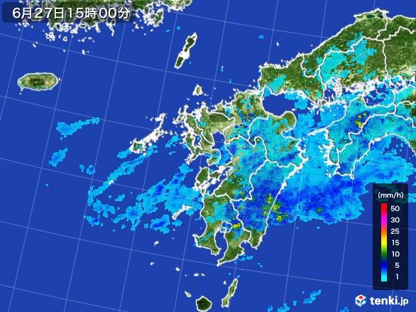 九州地方の雨雲レーダー(2017年06月27日)