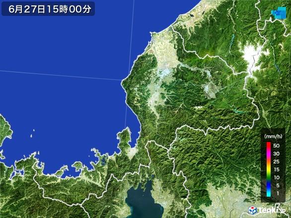 福井県の雨雲レーダー(2017年06月27日)