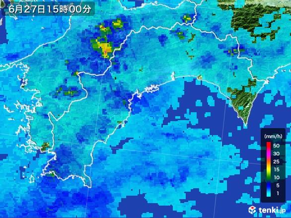高知県の雨雲レーダー(2017年06月27日)