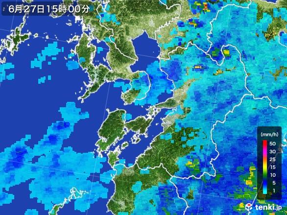 熊本県の雨雲レーダー(2017年06月27日)