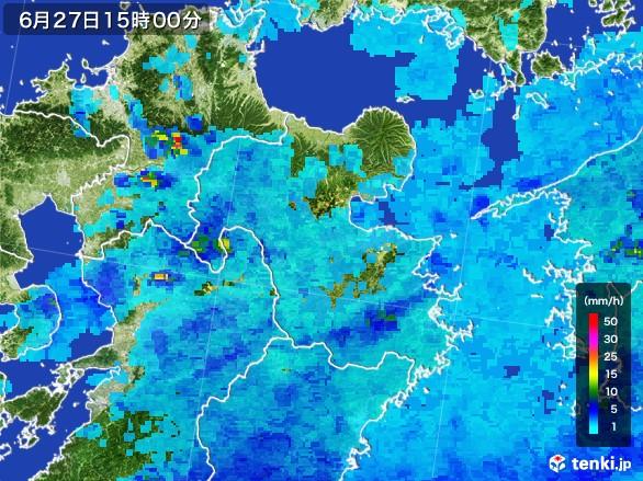 大分県の雨雲レーダー(2017年06月27日)