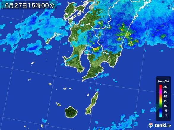 鹿児島県の雨雲レーダー(2017年06月27日)