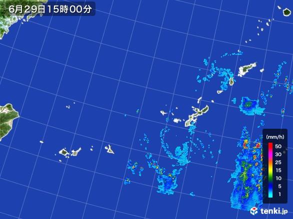 沖縄地方の雨雲レーダー(2017年06月29日)