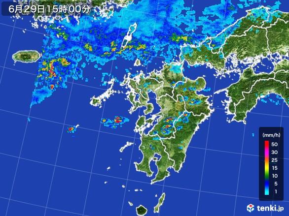 九州地方の雨雲レーダー(2017年06月29日)