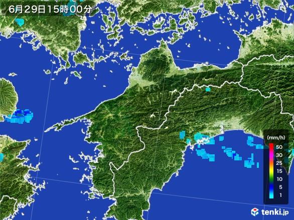 愛媛県の雨雲レーダー(2017年06月29日)