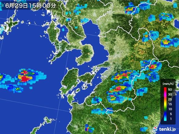 熊本県の雨雲レーダー(2017年06月29日)