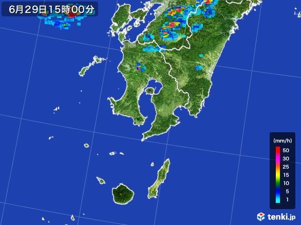 鹿児島県の雨雲レーダー(2017年06月29日)