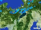 2017年07月01日の滋賀県の雨雲レーダー