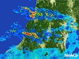 2017年07月04日の山形県の雨雲レーダー