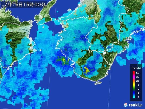 和歌山県の雨雲レーダー(2017年07月05日)