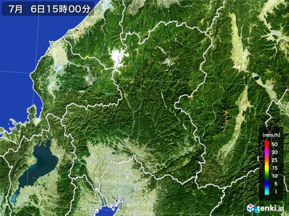 岐阜県の雨雲レーダー(2017年07月06日)