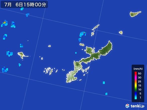 沖縄県の雨雲レーダー(2017年07月06日)
