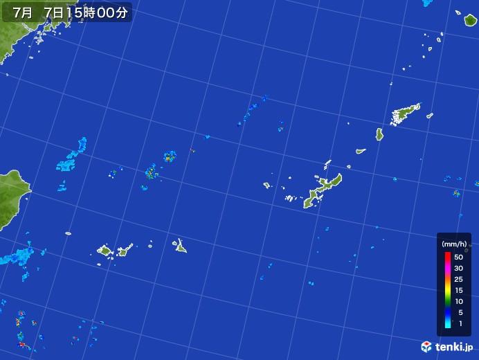 沖縄地方の雨雲レーダー(2017年07月07日)