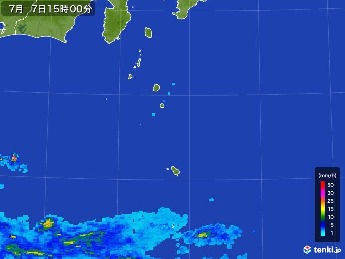 伊豆諸島(東京都)の雨雲レーダー(2017年07月07日)