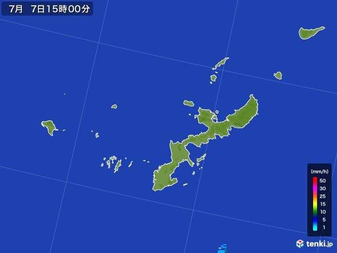 沖縄県の雨雲レーダー(2017年07月07日)