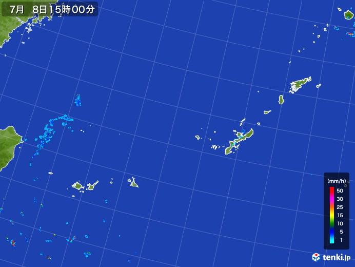 沖縄地方の雨雲レーダー(2017年07月08日)