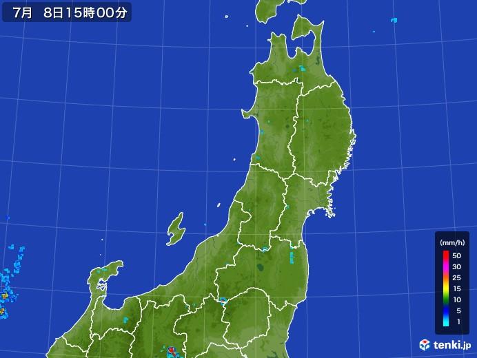 東北地方の雨雲レーダー(2017年07月08日)