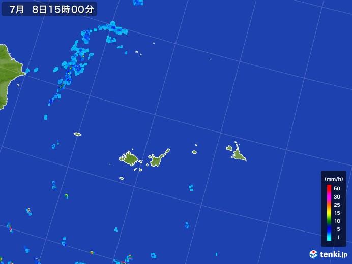 宮古・石垣・与那国(沖縄県)の雨雲レーダー(2017年07月08日)