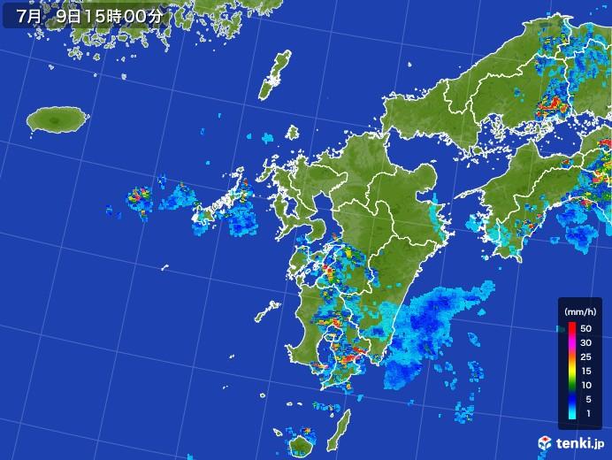 九州地方の雨雲レーダー(2017年07月09日)
