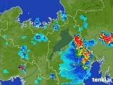 2017年07月12日の滋賀県の雨雲レーダー