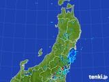2017年07月13日の東北地方の雨雲レーダー