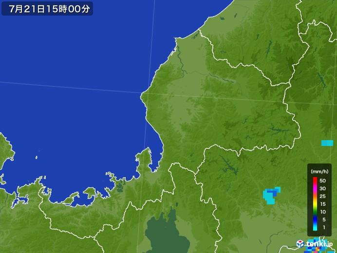 福井県の雨雲レーダー(2017年07月21日)