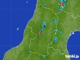 2017年07月21日の山形県の雨雲レーダー