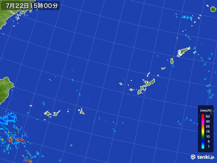 沖縄地方の雨雲レーダー(2017年07月22日)