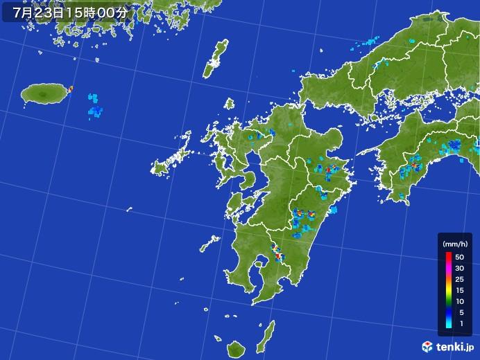 九州地方の雨雲レーダー(2017年07月23日)