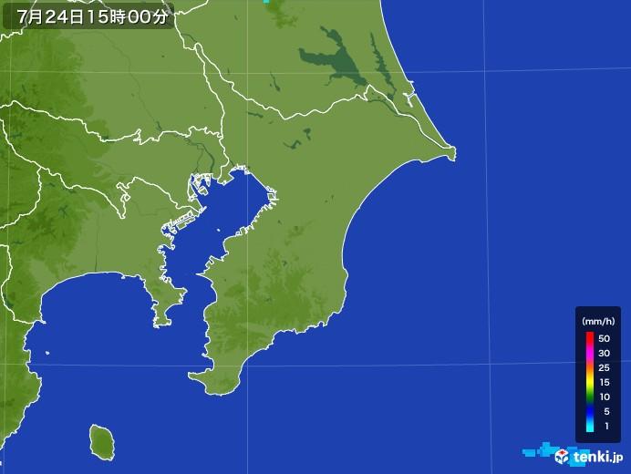 千葉県の雨雲レーダー(2017年07月24日)