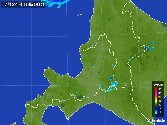 道央の雨雲レーダー(2017年07月24日)