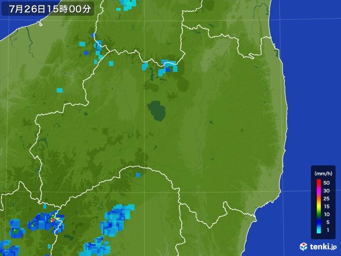 福島県の雨雲レーダー(2017年07月26日)