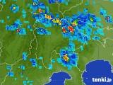 2017年07月29日の山梨県の雨雲の動き