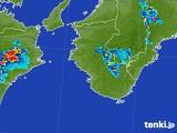 2017年07月31日の和歌山県の雨雲の動き