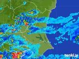 2017年08月01日の茨城県の雨雲の動き