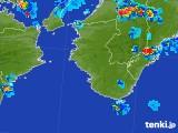 2017年08月01日の和歌山県の雨雲の動き