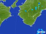 2017年08月02日の和歌山県の雨雲の動き