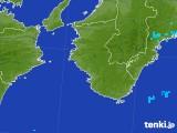 2017年08月03日の和歌山県の雨雲の動き