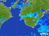 2017年08月04日の和歌山県の雨雲の動き