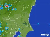 2017年08月06日の茨城県の雨雲の動き