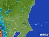 2017年08月07日の茨城県の雨雲の動き