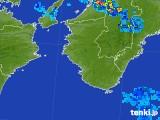 2017年08月08日の和歌山県の雨雲の動き