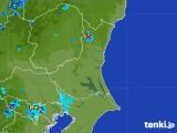 2017年08月09日の茨城県の雨雲の動き